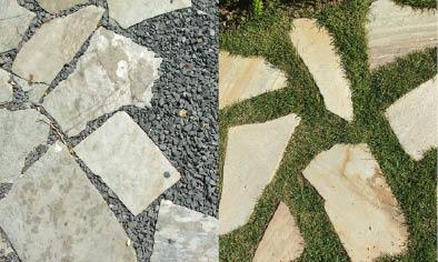 Materialen in tuin